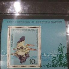 Sellos: HB RUMANIA (P. ROMANA) NUEVO/1980/AÑO/EUROPA/CONSERVACION/NATURALEZA/AVES/PELICANO/ANIMALES/FAUNA/. Lote 279464318