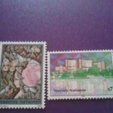 Sellos: SELLO NACIONES UNIDAS (VIENA) NUEVO/1992/NN.UU/SEDE/ARQUITEC/ARTE/PINTURA/MUJER/PALOMA/AVE/MARIPOSA/. Lote 287694253