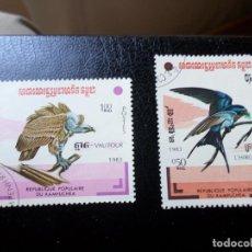 Sellos: *KAMPUCHEA, 1983, AVES. Lote 287938968