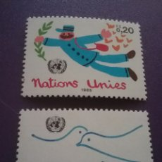 Sellos: SELLO NACIONES UNIDAS (GINEBRA) NUEVO/1985/SERIE/GENERAL/CARTERO/UNIFORME/PALOMA/AVE/PAJARO/ANIMALES. Lote 288465813