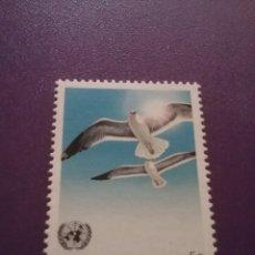 Sellos: SELLO NACIONES UNIDAS (GINEBRA) NUEVO/1985/GAVIOTAS/ANIMALES/AVES/PAJARO/FAUNA/NATURALEZA/. Lote 288474853
