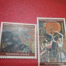 Sellos: SELLO NACIONES UNIDAS (GINEBRA) NUEVO/1995/4CONFE/INTERN/MUJER/PINTURA/AVES/LIBRO/NATURALEZA/PINTURA. Lote 289320283