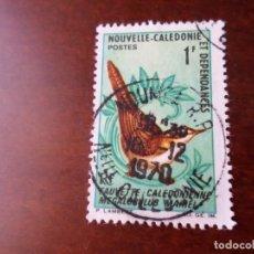 Sellos: NUEVA CALEDONIA, 1967, AVES, CURRUCA, YVERT 345. Lote 294444118