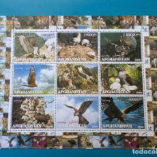 Sellos: .AFGANISTAN, 2000, HOJA BLOQUE AVES RAPACES. Lote 295459778