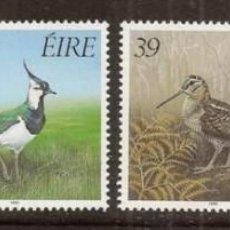 Sellos: IRLANDA. 4 VALORES 1989. PAJAROS. YVERT 693-696***.. Lote 295546518