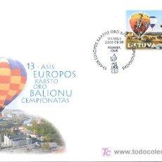 Sellos: LITUANIA 2003 SOBRE PRIMER DÍA. CAMPEONATO 13 CAMPEONATO EUROPEO DE GLOBOS DE AIRE CALIENTE. Lote 3104887