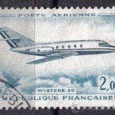 Sellos: FRANCIA 1965 2 F YVERT A42 - AVIACION - MYSTERE 20. Lote 8126665