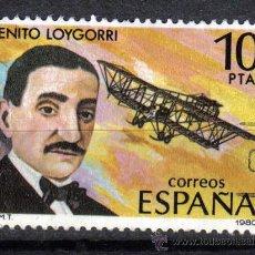 Sellos: ESPAÑA 1980 10 P EDIFIL 2596 - AVIACION - AVIADOR - BENITO LOYGORRI PIMENTEL. Lote 8126702