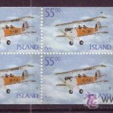 Sellos: ISLANDIA CARNET 913A*** - AÑO 2001 - AVION - TF-OGN OGNIN. Lote 23289667