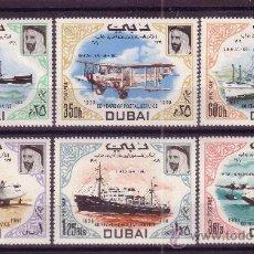 Sellos: DUBAI 101*** - AÑO 1969 - 60º ANIVERSARIO DEL SERVICIO POSTAL - AVIONES - BARCOS. Lote 18926591