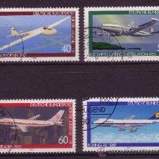 Sellos: ALEMANIA 888/91 - AÑO 1980 - PRO JUVENTUD - AVIONES. Lote 15789878
