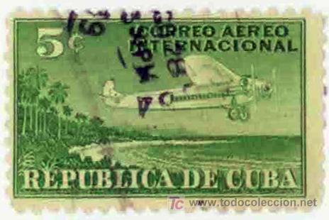 CUBA 1950 - CORREO AEREO INTERNACIONAL (Sellos - Temáticas - Aviones)