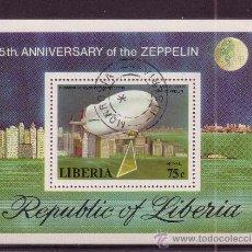 Sellos: LIBERIA HB 88 - AÑO 1978 - AVIACION - 75º ANIVERSARIO DEL PRIMER ZEPPELIN. Lote 16189280