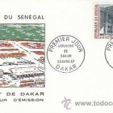Sellos: SENEGAL, AEROPUERTO DE DAKAR, PRIMER DIA DEL 22-4-1967. Lote 55336475