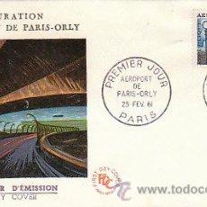 Sellos: FRANCIA, INAUGURACIÓN DEL AEROPUERTO DE PARIS-ORLY, MATASELLOS DE PARIS DEL 25-2-1961. Lote 18742085