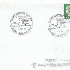 Sellos: FRANCIA, MUSEO REGIONAL DEL CORREO FRANCÉS, LA AVIACIÓN POSTAL, MATASELLOS DEL 1-4-1973. Lote 18841070