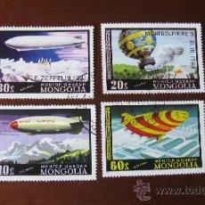 Sellos: MOGOLIA 1977, GLOBOS/DIRIGIBLES. Lote 29101700