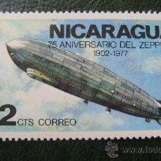 Sellos: NICARAGUA, 75 ANIVERSARIO DEL ZEPPELIN. Lote 29126155