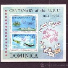 Sellos: DOMINICA HB 28*** - AÑO 1974 - CENTENARIO DE LA UNION POSTAL UNIVERSAL - BARCOS - AVIONES. Lote 29618655