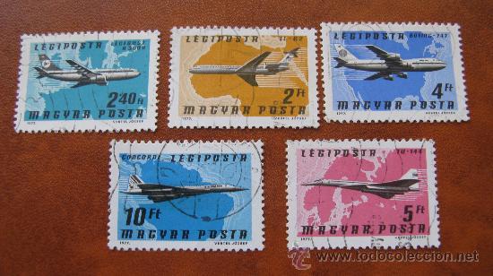 1977 HUNGRIA, AVIONES, CORREO AEREO (Sellos - Temáticas - Aviones)