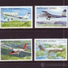 Sellos: PAPUA 552/55** - AÑO 1987 - AVIONES Y TRANSPORTES DE PAPUASIA. Lote 31636193
