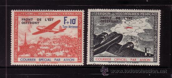 FRANCIA L.V.F. 4/5** - AÑO 1941 - AVIONES - FRENTE DEL ESTE (Sellos - Temáticas - Aviones)