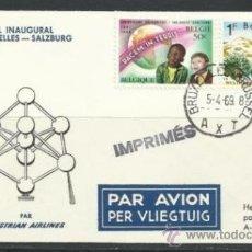 Sellos: A95-CARTA CIRCULADA PRIMER VUELO BREXELLES-SALZBURG 1969.MATASELLOS ESPECIAL.UNICO.CORREO AEREO AVIA. Lote 34020547