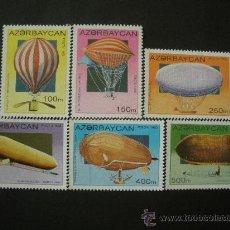 Sellos: AZERBAIJAN 1995 IVERT 224/9 *** HISTORIA DE LA AVIACIÓN - LOS DIRIGIBLES. Lote 34154862