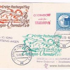 Sellos: 1958. POSTAL CIRCULADO DESDE BERLIN CON SELLOS DE ALEMANIA OCC , VIÑETAS AEREAS . Lote 35790705
