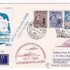 Sellos: 1958. CHIPRE A ELCHINGEN/WURTT. SOBRE CON SELLOS DE CYPRUS Y FECHADOR NICOSIA. Lote 35809980