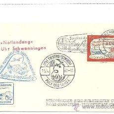 Sellos: -+. SOBRE CON SELLO DE LUXEMBURGO Y MATASELLOS ESPECIALES DE AVIÓN Y VIÑETA . Lote 35814357