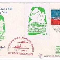 Sellos: 1958. LIECHTENSTEIN A ALEMANIA. SOBRE CIRCULADO CON SELLO DE Y MATASELLO DE LIECHTENSTEIN. Lote 35859061