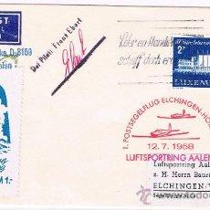 Sellos: 1958. LIECHTENSTEIN A ALEMANIA. Lote 35859337