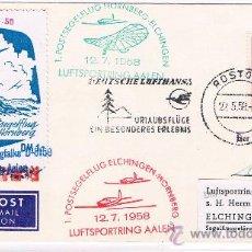 Sellos: 1958.ROSTOCH/ELCHINGEN. SOBRE CON SELLO DDR SOBRECARGADO. Lote 35862098
