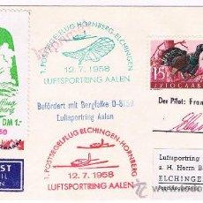 Sellos: 1958. LUBIANA /ELCHINGEN. SOBRE CON SELLO DE YUGOSLAVIA. Lote 35862295