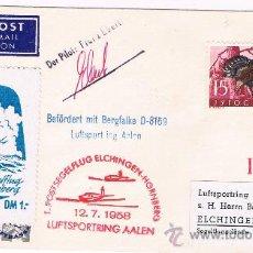 Sellos: 1958. LUBIANA /ELCHINGEN. SOBRE CON SELLO DE YUGOSLAVIA Y FECHADOR LUBIANA. Lote 35862578