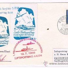 Sellos: 1958. SUIZA A ALEMANIA. SOBRE CIRCULADO CON SELLO DE SUIZA Y FECHADOR ZURICH. Lote 35871714