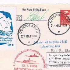 Sellos: 1958. SOBRE CIRCULADO CON SELLO DE SUECIA Y FECHADOR DE GOTEBORG. Lote 35871956