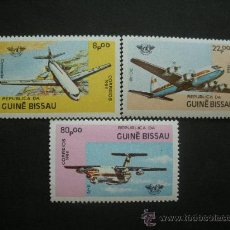 Sellos: GUINEA BISSAU 1984 IVERT 266/8 *** 40º ANIVERSARIO ORGANIZACIÓN DE AVIACION CIVIL O.A.C.I. - AVIONES. Lote 36373530