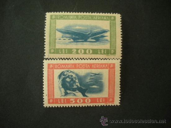 RUMANIA 1946 AEREO IVERT 34/5 *** AVIACIÓN - AVIONES (Sellos - Temáticas - Aviones)