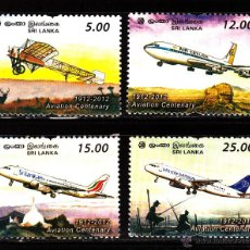 Sellos: SRI LANKA 1972/75** - AÑO 2012 - AVIONES - CENTENARIO DE LA AVIACION. Lote 40080752