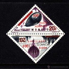 Sellos: MONACO AEREO 61/62** - AÑO 1956 - AVIONES - GLOBOS Y DIRIGIBLES. Lote 40980067