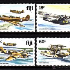 Sellos: FIJI 449/52** - AÑO 1981 - AVIONES DE LA SEGUNDA GUERRA MUNDIAL. Lote 41447131