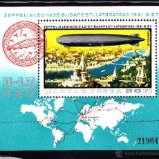 Sellos: HUNGRIA HB 133** - AÑO 1977 - HISTORIA DEL DIRIGIBLE. Lote 42024125