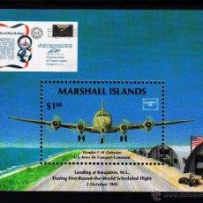 Sellos: MARSHALL HB 1** - AÑO 1986 - AVIONES - DOUGLAS - C 54. Lote 42065236