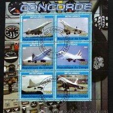 Sellos: CONGO 2007 HOJA BLOQUE DE SELLOS TEMATICA AVIONES- CONCORDE- AIRCRAFT. Lote 42563696