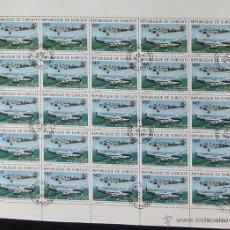 Sellos: DJIBOUTI 1979 BLOQUE 25 SELLOS 75 ANIVERSARIO AVIACION- AVION- AVIONES- JUNKERS- DEWOITINE. Lote 42601338