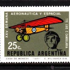 Sellos: ARGENTINA 908** - AÑO 1971 - AVIONES - SEMANA AERONAUTICA Y ESPACIAL. Lote 43741140