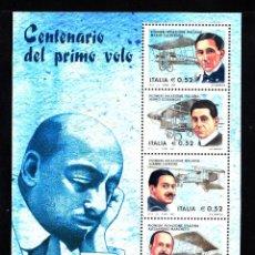 Sellos: ITALIA HB 35** - AÑO 2003 - AVIONES - PIONEROS DE LA AVIACION ITALIANA. Lote 44011429