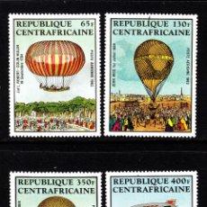 Sellos: CENTROAFRICA AEREO 272/75** - AÑO 1983 - AEROSTATOS Y DIRIGIBLES. Lote 44181946